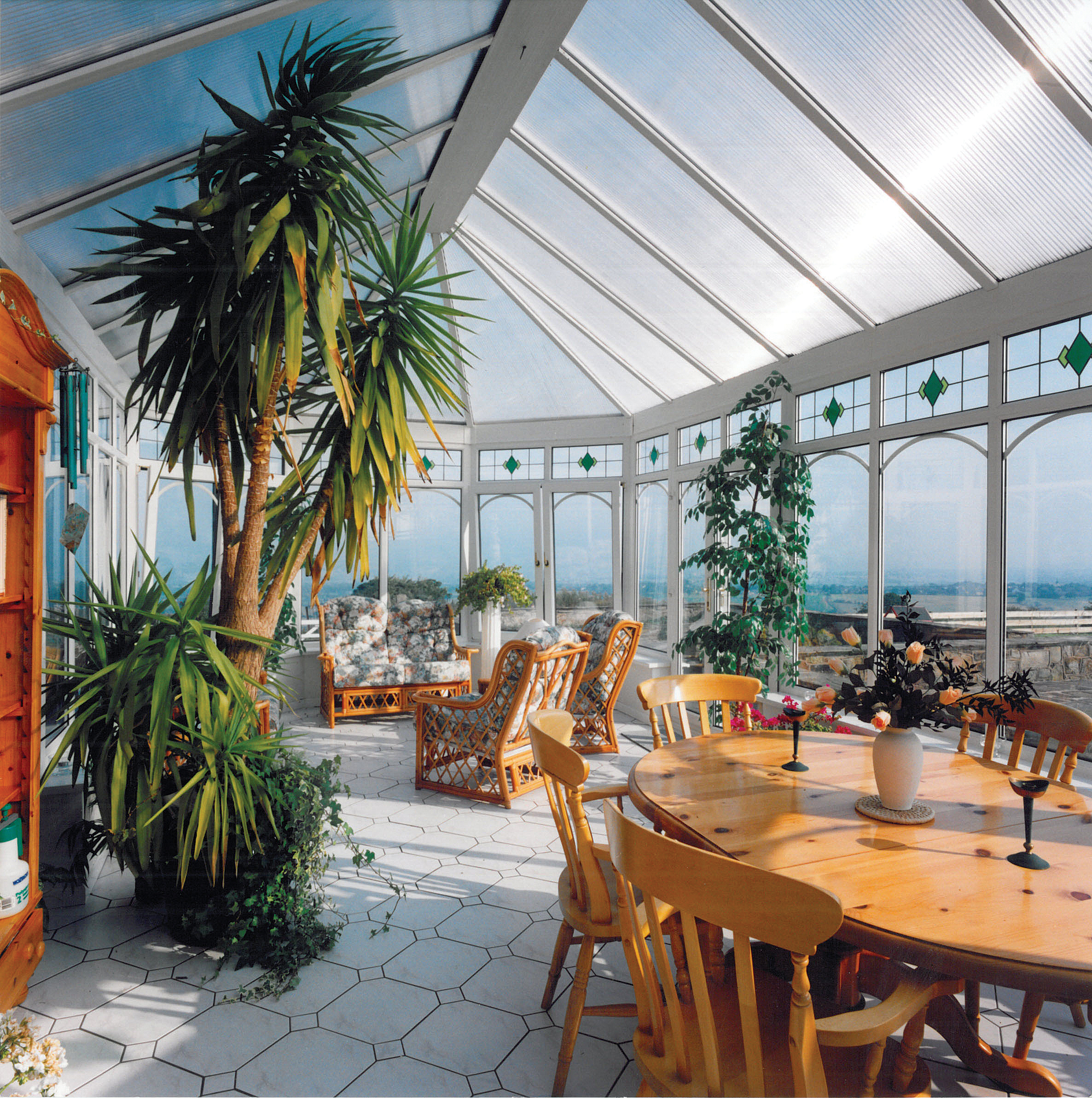 Conservatory glass for year round comfort